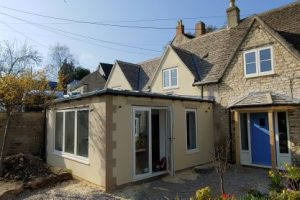 Flat Roof Rendered Extension Nailsworth
