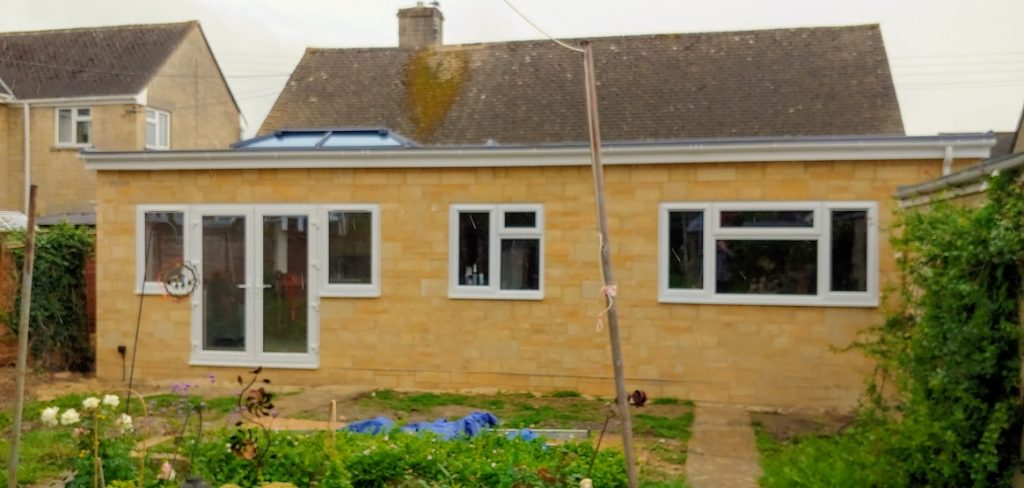 Flat Roof Stone Extension Stonehouse